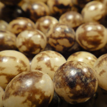 Buri Tiger Brown 10mm Round Seed Beads