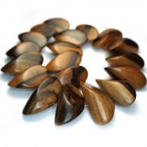 Kamagong (Tiger Ebony) Large Slice Wood Beads