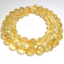 Citrine 10mm Round Beads