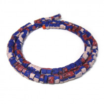 Coco wood beads Blue Painted Blue with Splashing