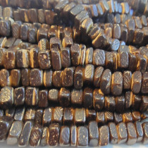 Coco Brown Square Wood Beads