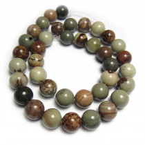 Coffee Bean Jasper 10mm Round Beads