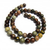 Coffee Bean Jasper 8mm Round Beads
