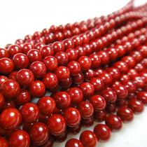 Red Coral 3mm Round Beads