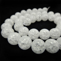 Cracked Glass 10mm Beads