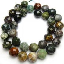Fancy Jasper 12mm  Faceted Beads