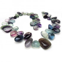 Fluorite Drop Style Chip Beads