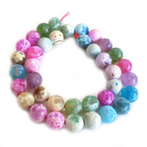 Fire Agate Pastel Colour 10mm Beads