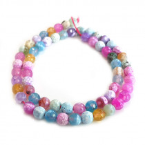 Fire Agate Pastel Colour 6mm Beads