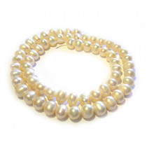 Natural Freshwater Potato Pearl Cream 6-7mm Beads