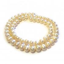 Natural Freshwater Potato Pearl Cream 6-7mm Beads