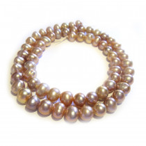Natural Freshwater Potato Pearl Lavender 6-7mm Beads