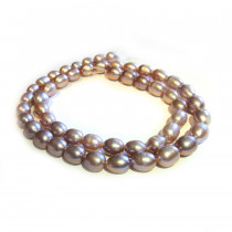 Natural Freshwater Rice Pearl Lilac Beads