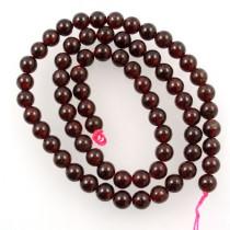 Garnet 6mm Round Beads