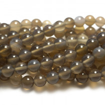 Grey Agate 6mm Round Beads