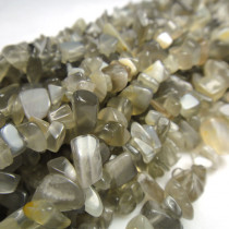 Grey Moonstone Chip Beads
