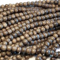 Greywood Round 4mm Wood Beads