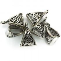 Tibetan Silver 15.5x10x7mm Bead Hanger (Pack 6)