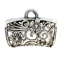 Tibetan Silver large Bead Hanger 32x25x18mm (Pack 2)