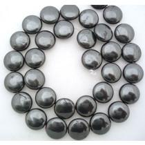 Hematite 12mm Coin Beads