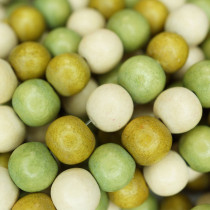 Natural White Wood Mixed Colour Beads - Khaki, Olive and Natural
