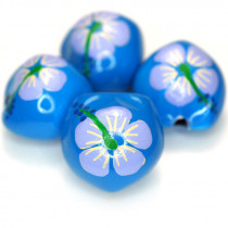 Kukui Nut Blue With Flower (Pack 4)