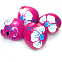 Kukui Nut Fuschia With Flower (Pack 4)