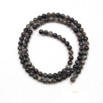Larvikite 4mm Round Beads