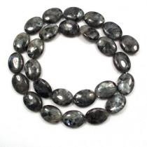 Larvikite 12x16mm Oval Beads