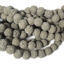 Dyed Grey Lava Rock Beads 10mm
