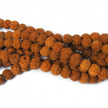 Dyed Burnt Orange Lava Rock Beads 6mm