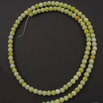 Natural Lemon Jasper 4mm Round Beads