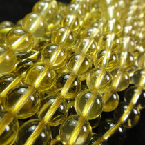 Lemon Quartz 8mm Round Beads