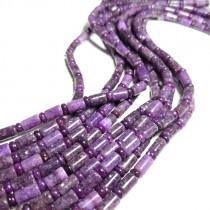 Lepidolite Rondelle & Tube Bead