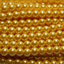 Light Khaki Glass Pearls 8mm Round Beads