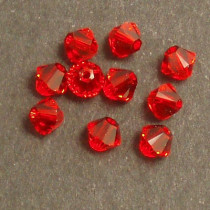Swarovski® 4mm Light Siam Bicone Xilion Cut Beads (Pack of 10)