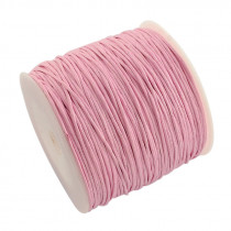 Light Pink Waxed Cotton Cord 1mm 90M Roll
