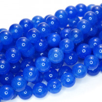 Malay Jade Blue 8mm Round Beads