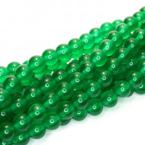 Malay Jade Emerald Green 6mm Round Beads