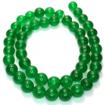 Malay Jade Emerald Green 8mm Round Beads