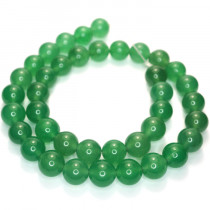 Malay Jade Green 10mm Round Beads