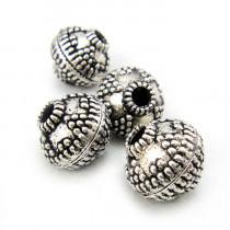 Tibetan Silver 12mm Lantern Beads