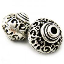 Tibetan Silver 17mm Large Bicone Beads