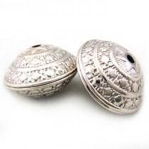 Tibetan Silver 23mm Saucer Beads