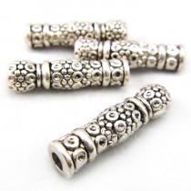 Tibetan Silver 22.5mm Tube Beads