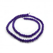 Malay Jade Amethyst Faceted 4mm Round Beads