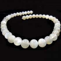 Moonstone Light Grey 10mm Round Beads