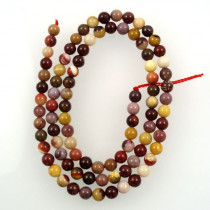 Mookaite 4mm round beads