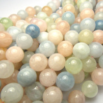 Morganite 8mm Round Beads