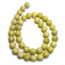 Natural Lemon Jasper 10mm Round Beads